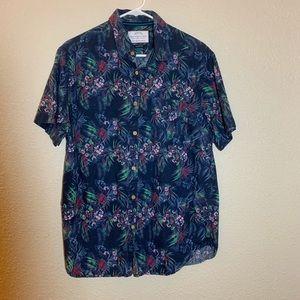 DENIM & FLOWER Slim Fit Men's Shirt Blue